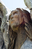 Angel Tree in Bay St. Louis, Mississippi. This is the angel image in one of the trees carved into artwork after Hurricane Katrina Royalty Free Stock Images