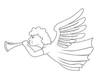 Angel with trumpet Royalty Free Stock Images