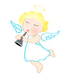 Angel with trumpet Stock Images