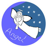 Angel with the trumpet Royalty Free Stock Photography