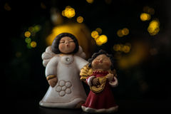 Angel. Two angel of christmas art Royalty Free Stock Photos