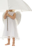 Angel with umbrella Royalty Free Stock Photo