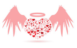 The Angel Valentine's day Stock Image