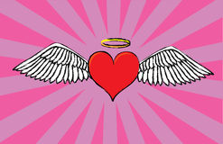 Angel valentine's heart Royalty Free Stock Image