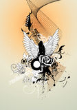 Angel vector composition royalty free illustration
