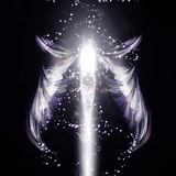 Angel vector futuristic background Royalty Free Stock Images