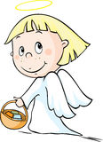 Angel - vector illustration isolated on white Royalty Free Stock Photo