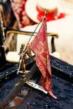 Angel with Venetian Flag Stock Photo