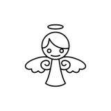 Angel Vetora Template ilustração stock