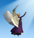 Angel in Violet Stock Images