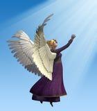 Angel in Violet vector illustration