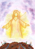 Angel Vision (2012). An angel appearing and shining Royalty Free Stock Photography