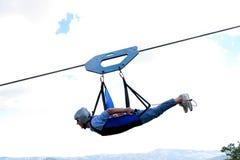 Angel& x27; voo de s em Castelmezzano, Basilicata, Itália Imagem de Stock Royalty Free