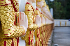 Angel wall of buddhist temple in Bodhgaya Stupa or Phuthakaya Pa Stock Photo