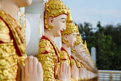 Angel wall of buddhist temple in Bodhgaya Stupa or Phuthakaya Pa Royalty Free Stock Images