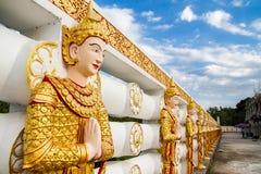 Angel wall of buddhist temple in Bodhgaya Stupa or Phuthakaya Pa Stock Image