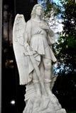 Angel warrior stone statue. Royalty Free Stock Photo