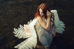 Angel in water Royalty Free Stock Photography