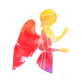 Angel at watercolor Stock Photo