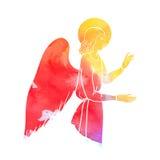 Angel at watercolor Stock Photo