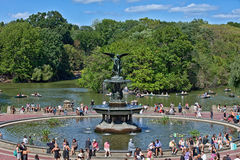 The Angel of the Waters, Central Park, NY, NY. Stock Photos
