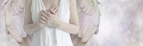 Angel Website Banner lizenzfreie stockfotografie