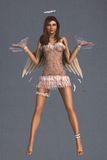 Angel weighing up the balance Royalty Free Stock Photo