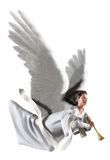 Angel on white vector illustration