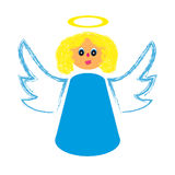 Angel on white background. Vector illustration Royalty Free Stock Photos