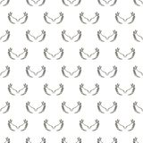 Angel white wings sketch pattern. Vector illustration Stock Photos