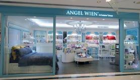 Angel Wien shoppar i Hong Kong Fotografering för Bildbyråer