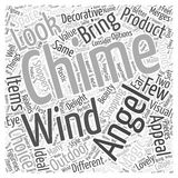 Angel wind chimes 16 word cloud concept  background Stock Photo
