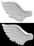 The angel wing Stock Photo