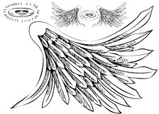 Angel Wing Halo Set Stock Images