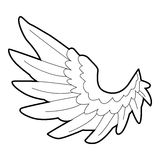 Angel wing icon, outline style Stock Photos