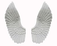 Angel wing isolated on white background.  stock image