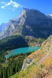Angel Wing Mountain And Grinnell Lake Royalty Free Stock Photo