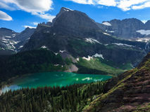 Angel Wing mountain at Grinnell lake Stock Images
