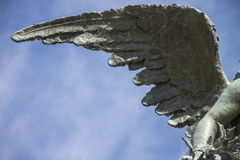 Angel wing. Only one sculpture of one angel wing Stock Image