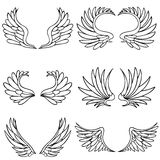 Angel Wing Set Royalty Free Stock Photography
