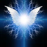 Angel winged. Radiates electric energy Royalty Free Stock Photo