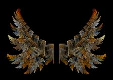 Angel Wings. Fractal design in the shape of two wings stock illustration