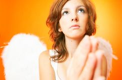 Angel with wings.  Stock Photo