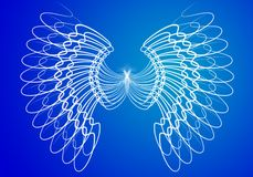Angel wings. Symbolic angel wings for winter designs vector illustration