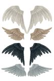 Angel wings. 3D render of angel feather wings vector illustration