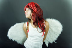 Angel Wings. Young female child dressed as an angel Stock Photo