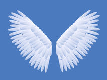 Angel Wings. Illustration Blue Background Stock Photos