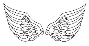 Angel Wings Stock Afbeeldingen