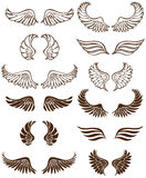 Angel Wings. Set of 12 sets of angel wings stock illustration