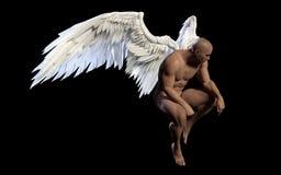 Angel Wings, aile blanche avec le chemin de coupure Illustration Libre de Droits